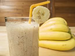 Банановый смузи с овсяными хлопьями