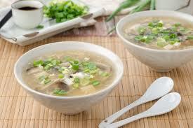 Китайский суп с курицей и грибами