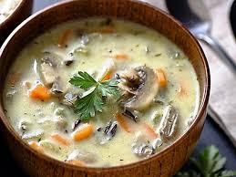 Суп с рисом и грибами