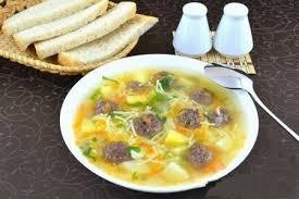 Острый суп с тефтелями