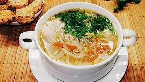Итальянский куриный суп с вермишелью