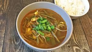 Корейский не острый суп Бульгоги