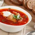 Борщ с мясом - классический рецепт
