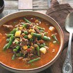 Быстрый овощной суп с фаршем