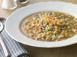 Овощной суп с перловкой и репой