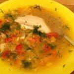 Овощной суп на курином бульоне из минимума ингредиентов