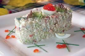 Салат с неркой, креветками и булгуром