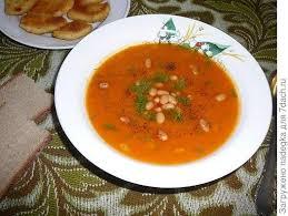 Тыквенный суп-пюре с фасолью