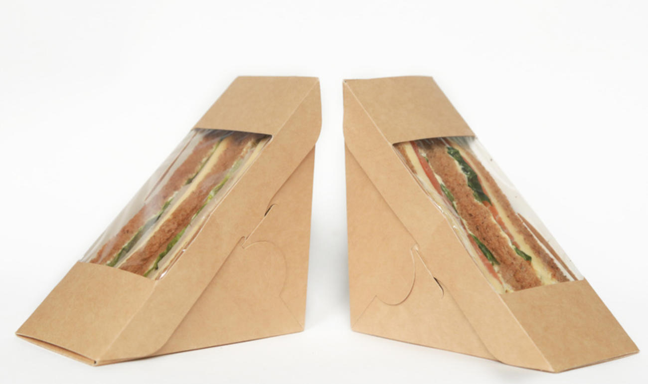 Бумажный контейнер для бутербродов — удобно, практично, экологично