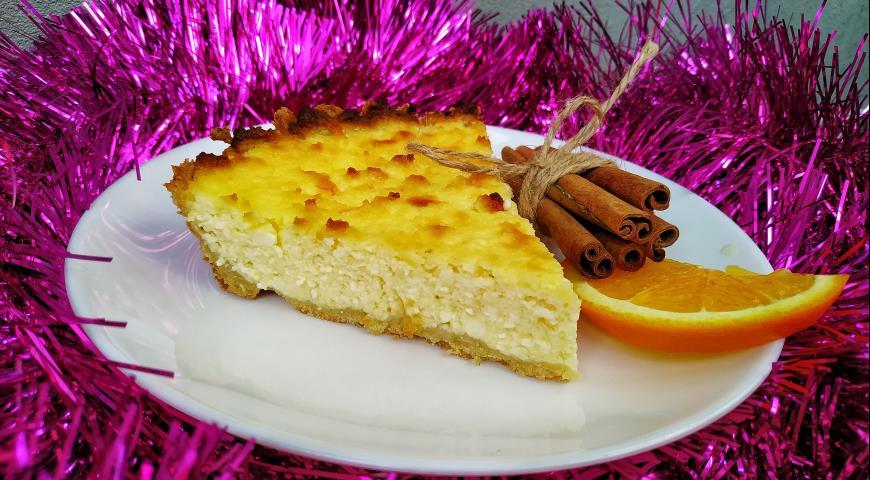Творожный пирог с апельсином