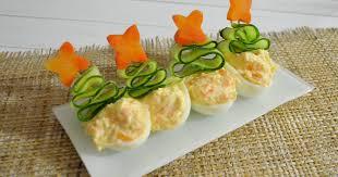 Фаршированные яйца «Ёлочка»