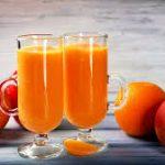 Смузи из абрикосов с яблоком и апельсином