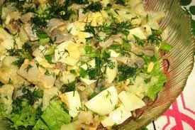 Капустный салат с сельдью