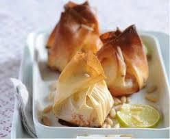 Конвертики с грушей и сыром