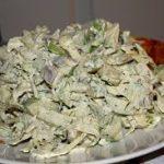 Салат с капустой и сельдью