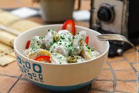 Салат из мододого картофеля с лимонным майонезом