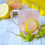 Компот из ревеня, с лимоном и имбирем