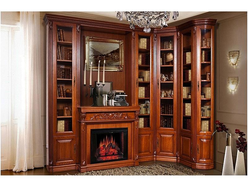 Шкафы из массива для обустройства гостиной