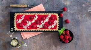 Тарт с малиновым кремом