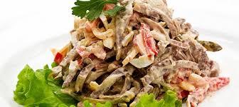 Салат грибной с перцем