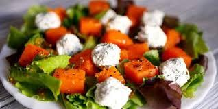 Салат с тыквой и рикоттой