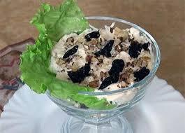 Салат с индейкой и черносливом