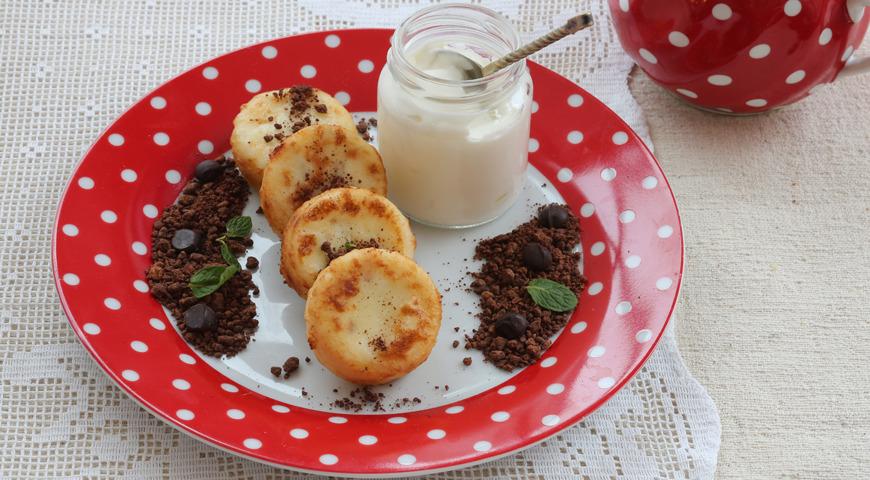 Сырники с шоколадной крошкой