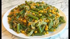 Мексиканский салат со стручковой фасолью