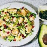 Салат с индейкой и авокадо