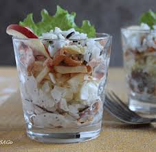 Салат-веррин с чечевичным кремом