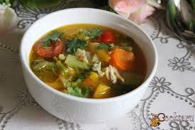Суп из курицы и овощей