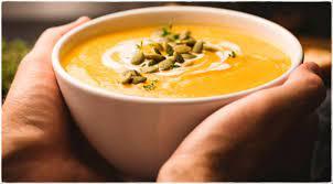 Согревающий тыквенный крем-суп с гренками
