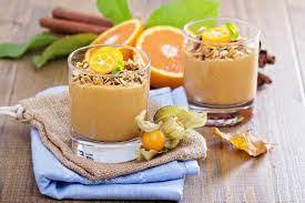 Овсянка с кефиром, апельсином и медом