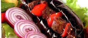 Мясо в баклажане по-грузински