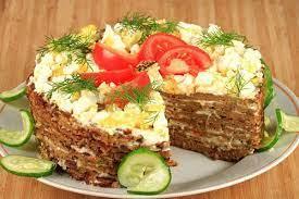 Закусочный мясной торт