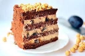 Бисквитный шоколадный торт с карамельным кремом