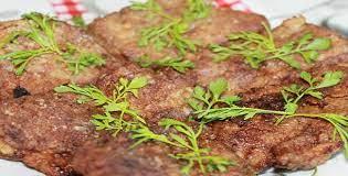 Отбивные из печени говяжьей