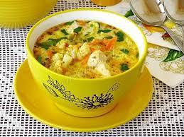 Куриный суп с цветной капустой