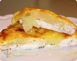 Запеченная куриная грудка с ананасом и сыром