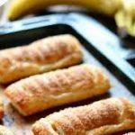 Слойки с бананом и пастилой