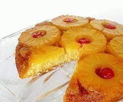Пирог-перевёртыш с ананасами и орехами