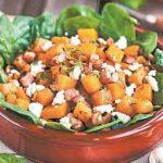 Салат с фасолью и тыквой